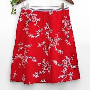 Speechless Cotton Graphic Floral A-line Skirt 9/M